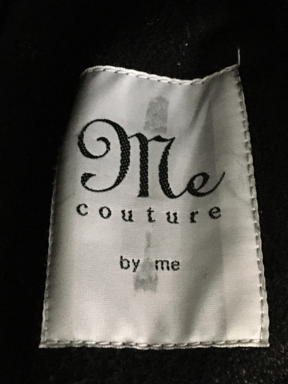 me couture ムートンベスト 黒[値下]